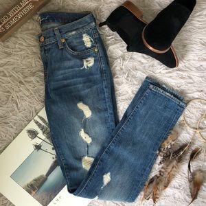 7 jeans ripped denim